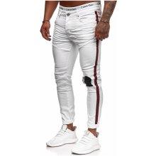 2d34ad9f21b2 pánské roztrhané džíny Stripe skinny fit RJ-5146