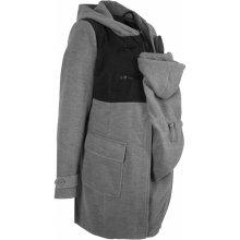 Bonprix slušivý těhotenský kabát s baby vsadkou šedá 5398525879