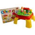 Clemmy baby Veselý hrací stolek s kostkami zvířátka