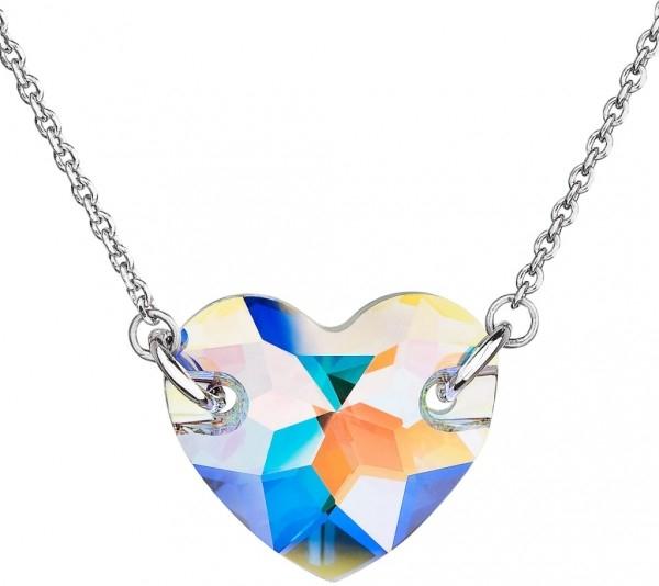 9fb7d1c60 Evolution Group s.r.o. Stříbrný náhrdelník s krystaly Swarovski bílé AB  efekt srdce 32021.2 od 718 Kč - Heureka.cz