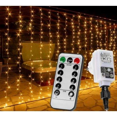 VOLTRONIC 68202 Vánoční světelný závěs - 6 x 3 m, 600 LED, teple bílý