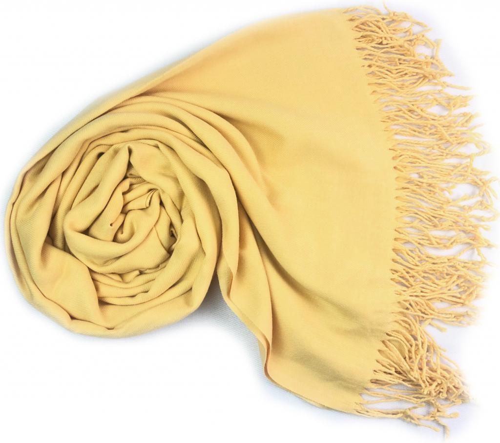 Carlo Romani Dámská žlutá pašmína   Dámská žlutá šála od 299 Kč - Heureka.cz 30b5275eaf