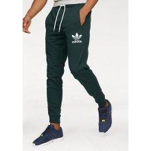 Adidas Originals Kalhoty na jógu 3STRIPED FT SWEATPANT tmavě zelená