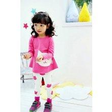 Dívčí komplet legíny a tričko dlouhým rukávem 7018742-2 růžová