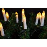 Klasické svíčky na vánoční strom teple bílá