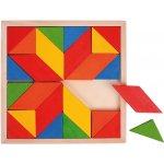 Bigjigs Toys Dřevěný hlavolam Hra Dřevěná mozaika