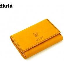 Harvey Miller 559195 kožená peněženka dámská Žlutá