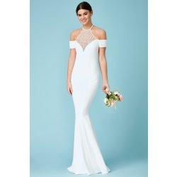 Dámské svatební šaty Svatební dlouhé šaty s perličkami b271572237