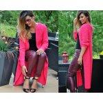 Fashionweek Luxusní neobvyklé pletené dlouhé svetry kabáty MAXI SV06 ROYAL  Amarant 00e6ae5b20