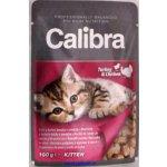 Calibra Cat Kitten krůtí a kuřecí v omáčce 100 g