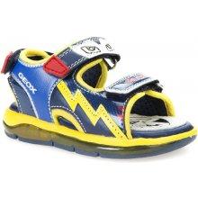 Geox Chlapecké svítící sandály B Sandal Todo Boy žluto-modré