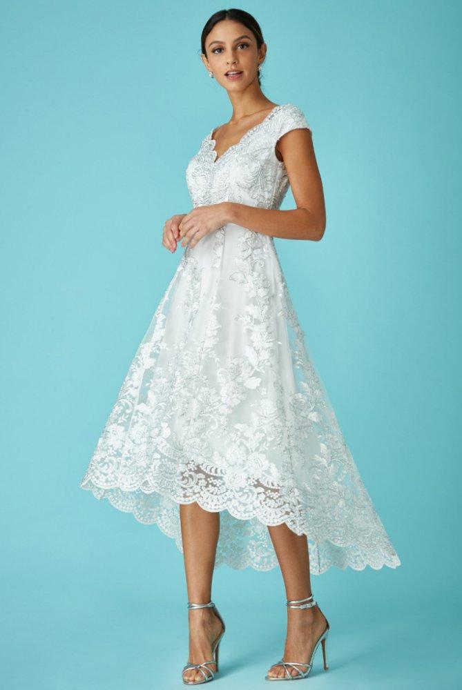 ab687bdea1f CityGoddess dlouhé společenské šaty Sirael bílá
