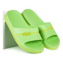 Pohodlné zelené dětské gumové nazouváky
