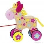 Goki dřevěná tahací hračka koník Clara
