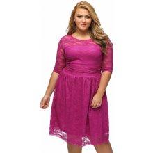 Společenské krajkové šaty pro plnoštíhlé 09cb607afc