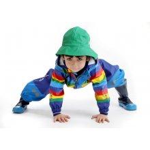KoziKidz nepromokavá souprava modro-žlutá Rainbow