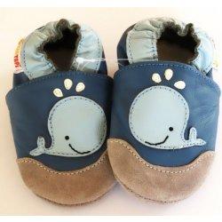 Kojenecké boty Taptapi kožené capáčky Velrybka modrá 965bc597c0