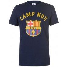 Source Lab Barcelona Crest T Shirt Mens Navy