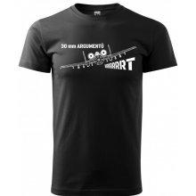 Bezvatriko.cz 0308 Pánské tričko A-10 30 mm argumentů Černá