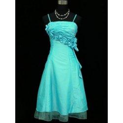 f03b8234db52 Modré světlé polodlouhé šaty na svatbu na ples do tanečních pro boubelky