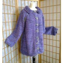 Kabátek mohérový s límcem lila