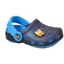 Bugga dětské gumové sandále nazouváky modré