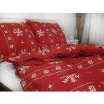 Písecké lůžkoviny bavlna povlak na polštář 70x90 - Vánoční červený