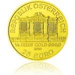 Wiener Philharmoniker Česká mincovna Zlatá investiční mince 1 4 Oz 25 EUR stand 7,78 g