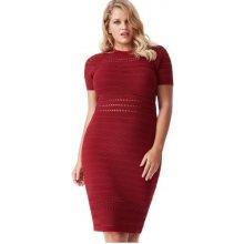 afd1abd038cc Dámské úpletové sexy šaty koktejlky červená