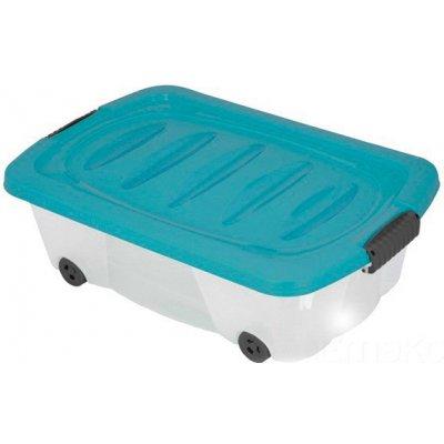 Emako Kontejner pro skladování, box na kolečkách - 24 l barva modrý