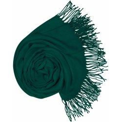 Carlo Romani Dámská tmavě brčálově zelená pašmína P108 zelená velmi tmavá  brčálová d2f46a99f8