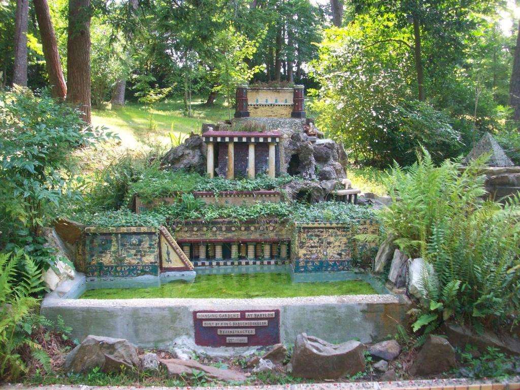 Obraz visuté zahrady semiramidiny