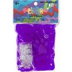 RAINBOW LOOM 20004 originálne gumičky tmavé fialové transparentné 600 kusov od 6 rokov
