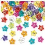 Korálky hvězdičky s diamantem