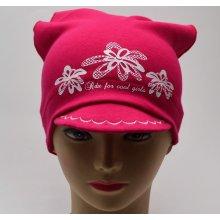 0155eae065e RDX dívčí šátek s kšiltem 2868 Květy růžová