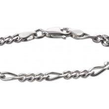 A-diamond.eu jewels náramek stříbrný řetízek na ruku figaro 113