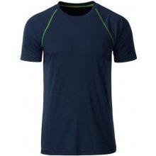 JAMES & NICHOLSON Pánské funkční tričko JN496 Tmavě modro-zářivě žlutá