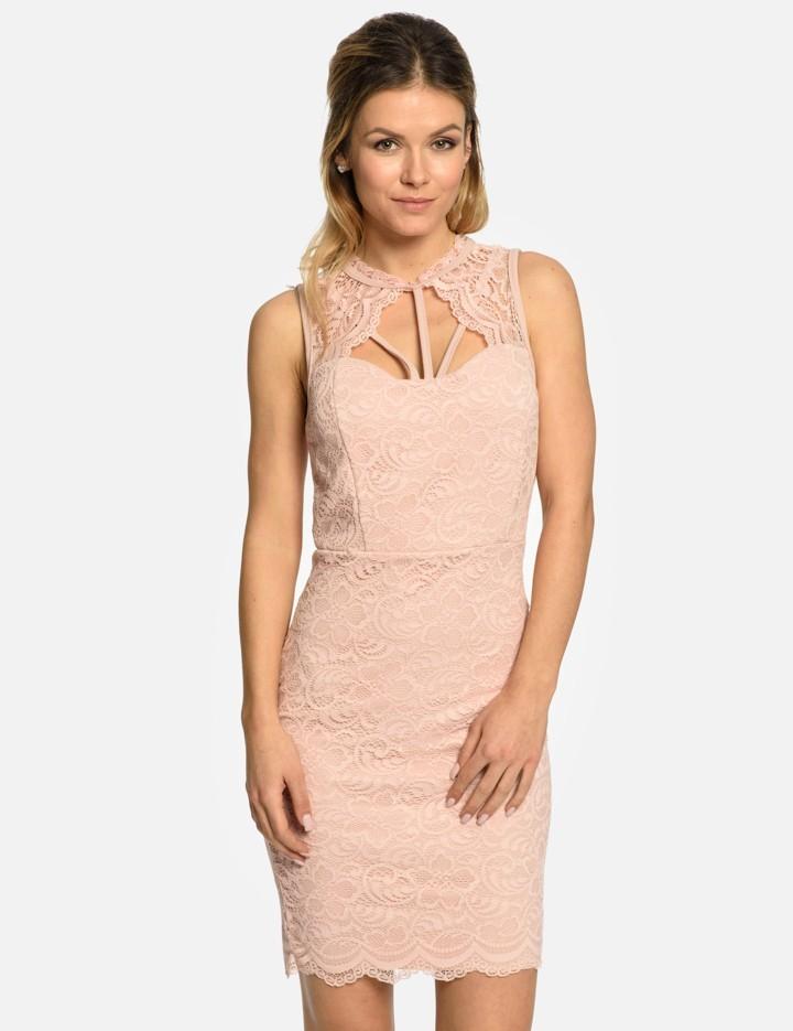 Calzanatta společenské dámské krajkové šaty 80300094 pudrově růžová  alternativy - Heureka.cz af068e24e6