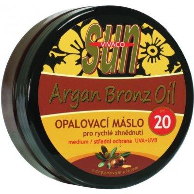 SunVital Argan Bronz Oil opalovací máslo SPF20 200 ml