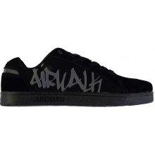 Airwalk Neptune Mens Skate Shoes, černá