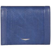 GIUDI pánská modrá kožená peněženka 7434