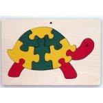 Makovský dřevěné hračky vkládací puzzle Želva v rámečku