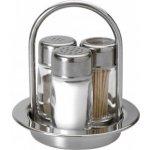 Frabosk Menážka, 3-dílná, sůl, pepř, párátka, nerez, Frabosk