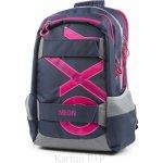 Karton P+P batoh Oxy Sport modrá Line růžová