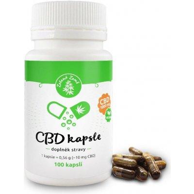 Zelená Země CBD kapsle 1000 mg 100 ks