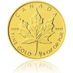 Maple Leaf Česká mincovna Zlatá investiční mince 1 4 Oz 10 CAD stand 7,78 g
