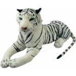 Plyšový tygr bílý ohromný s ocasem 140 cm