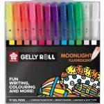 Bruynzeel-sakura POXPGBMOO12 Gelové pero pastel a fluo Gelly Roll Moonlight 0.5 mm, sada 12 ks.