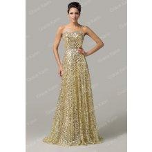 a34ed80c8f6 Grace Karin luxusní šaty dlouhé CL6103-5 zlatá