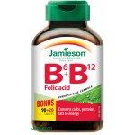 Jamieson Vitamíny B6 B12 + kyselina listová tablety 110 ks